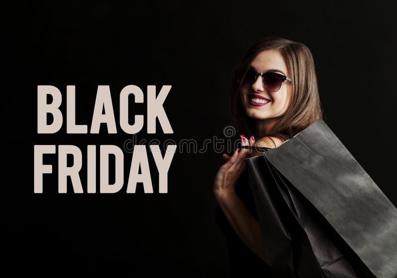 Het zwarte winkelen van de Vrijdag royalty-vrije stock foto