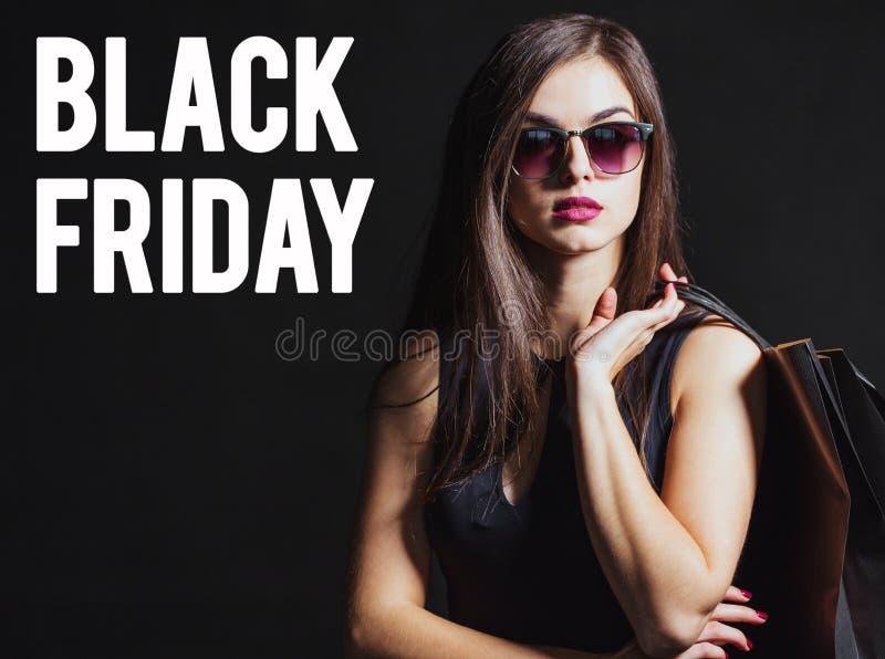 Het zwarte winkelen van de Vrijdag stock fotografie