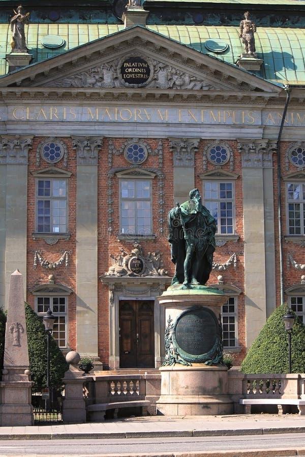 Het Zweedse Huis van Adel in Stockholm stock foto's