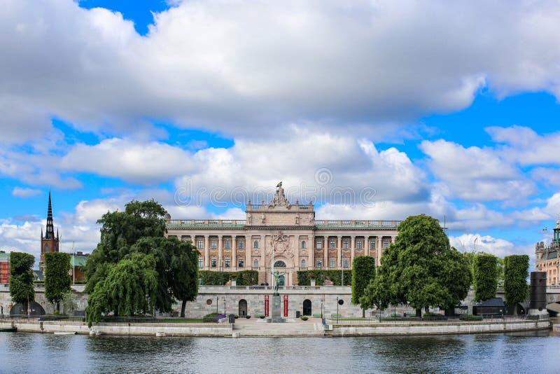 Het Zweedse Parlement royalty-vrije stock afbeelding