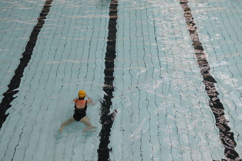 Het zwembadspoor stock afbeelding