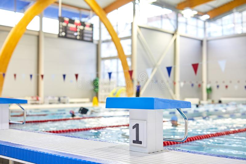 Het zwemmen competities royalty-vrije stock fotografie