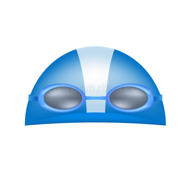 Het zwemmen GLB en beschermende brillen stock illustratie