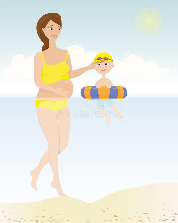 Download Het zwemmen met Kinderen stock foto. Afbeelding bestaande uit kind - 39107022