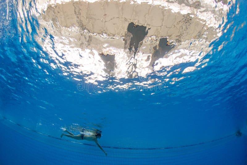 Het zwemmen opleiding royalty-vrije stock fotografie