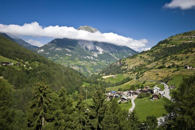 Het Zwitserse landschap van Alpen royalty-vrije stock fotografie