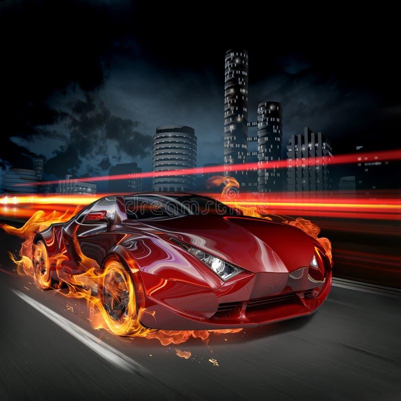 Hete auto royalty-vrije illustratie