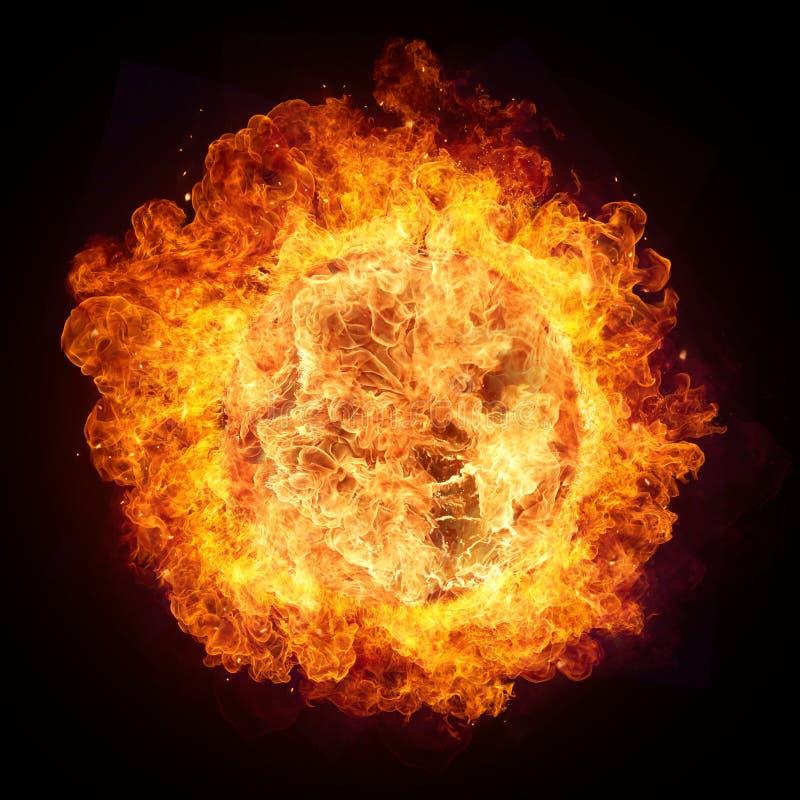 Hete brandenvlammen in ronde vorm stock fotografie