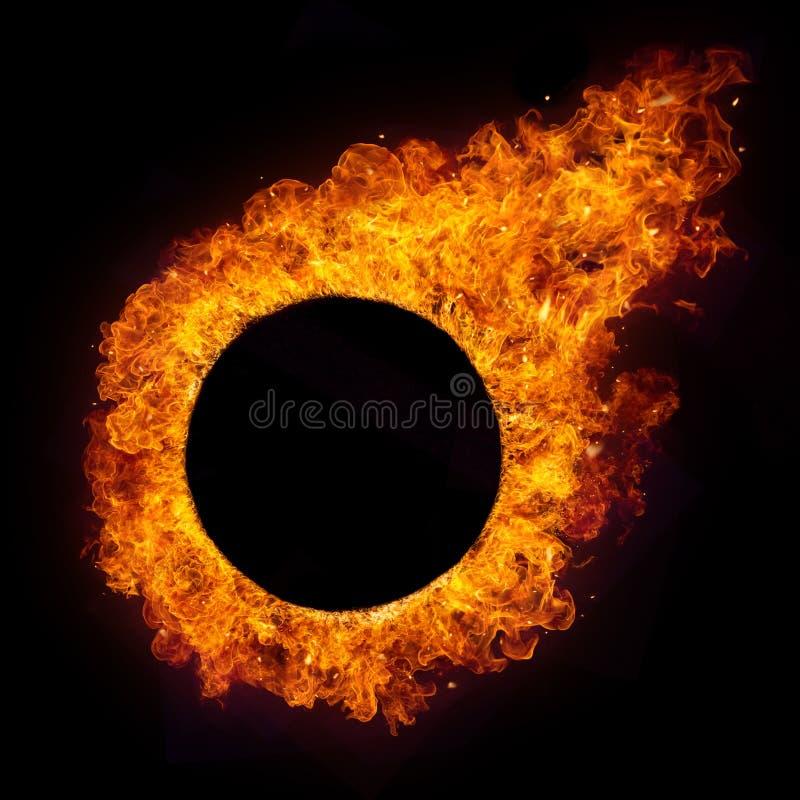 Hete brandenvlammen in ronde vorm royalty-vrije stock afbeelding
