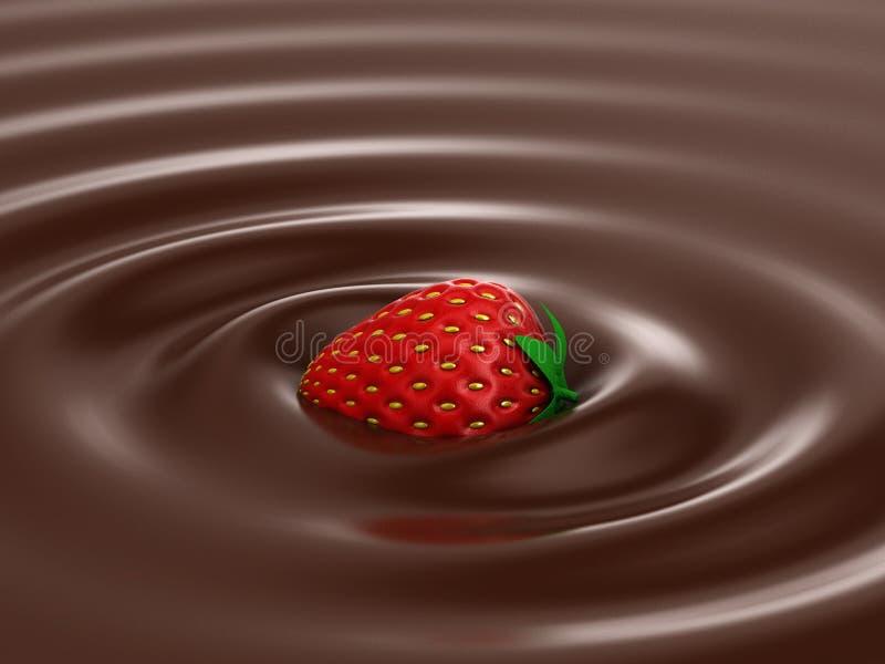 Hete Chocolade royalty-vrije illustratie