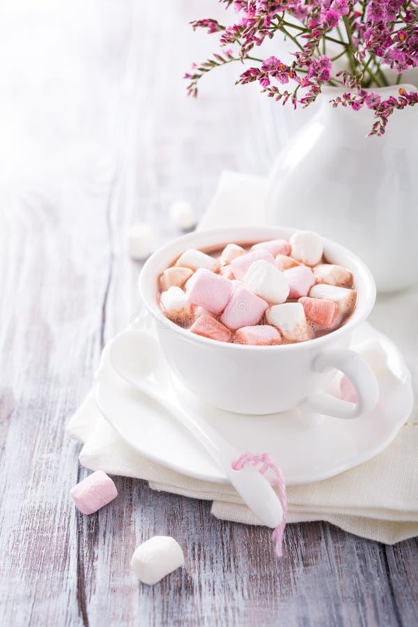 Hete chocolade met miniheemst royalty-vrije stock fotografie