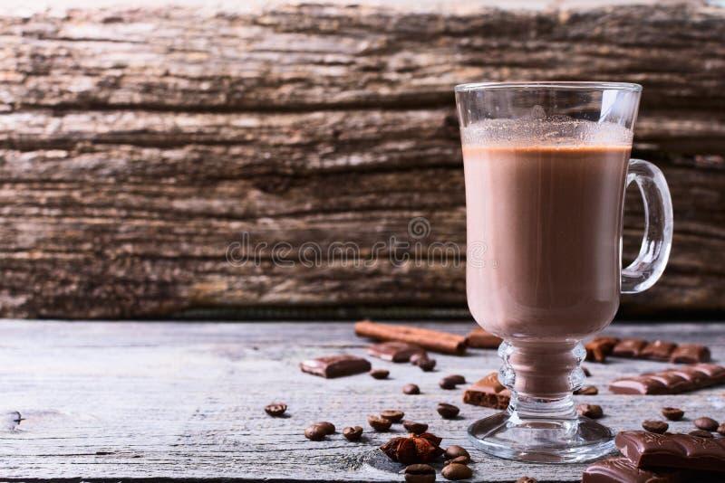 Hete chocoladedrank royalty-vrije stock afbeelding