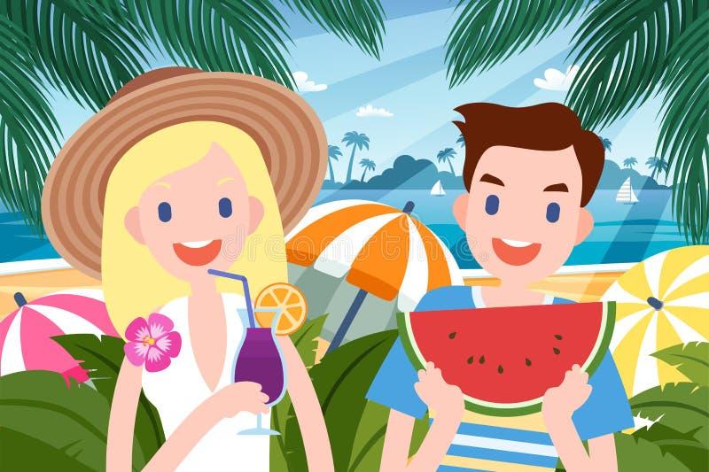 Hete de zomerpartij vector illustratie