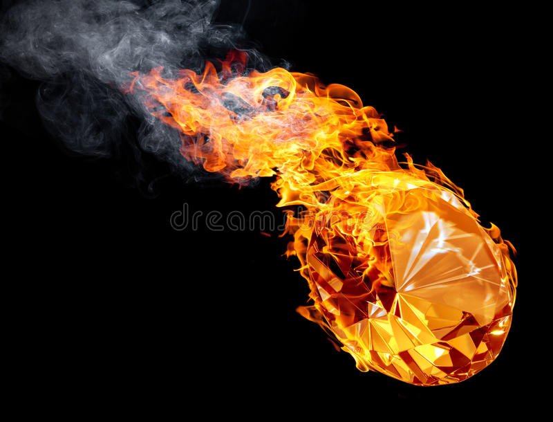 Hete diamant royalty-vrije stock afbeelding