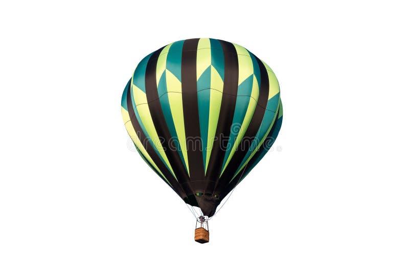 Hete die luchtballon op wit wordt geïsoleerd royalty-vrije stock afbeelding