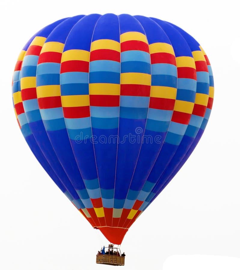 Hete die luchtballon op wit wordt geïsoleerd stock afbeeldingen