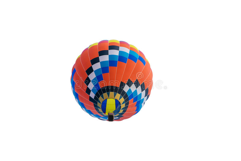 Hete die luchtballon op wit wordt geïsoleerd royalty-vrije stock foto