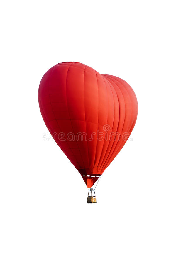 Hete die luchtballon op wit wordt geïsoleerd royalty-vrije stock fotografie