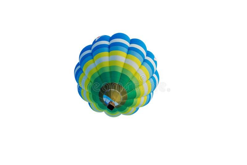 Hete die luchtballon op wit wordt geïsoleerd stock foto's