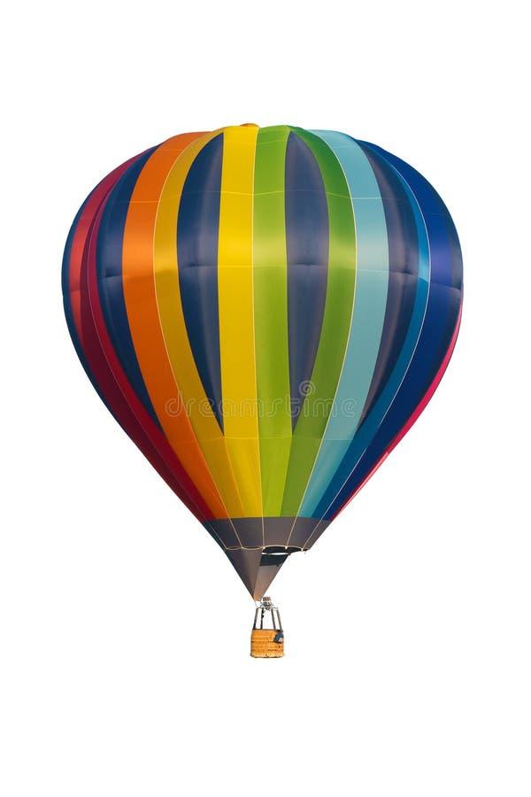 Hete die luchtballon op witte achtergrond wordt geïsoleerd royalty-vrije stock afbeelding