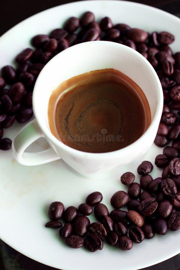 Hete espresso stock afbeelding