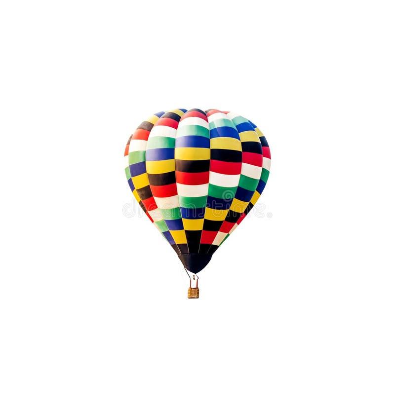 Hete geïsoleerded luchtballon stock foto