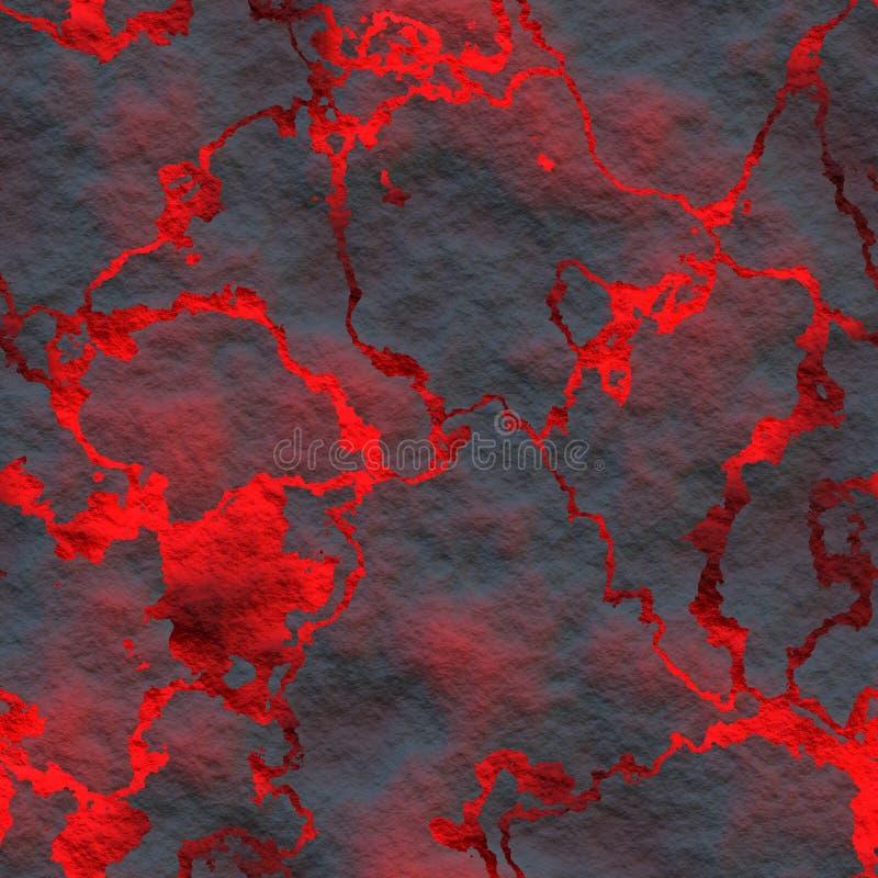Hete gesmolten lava vector illustratie