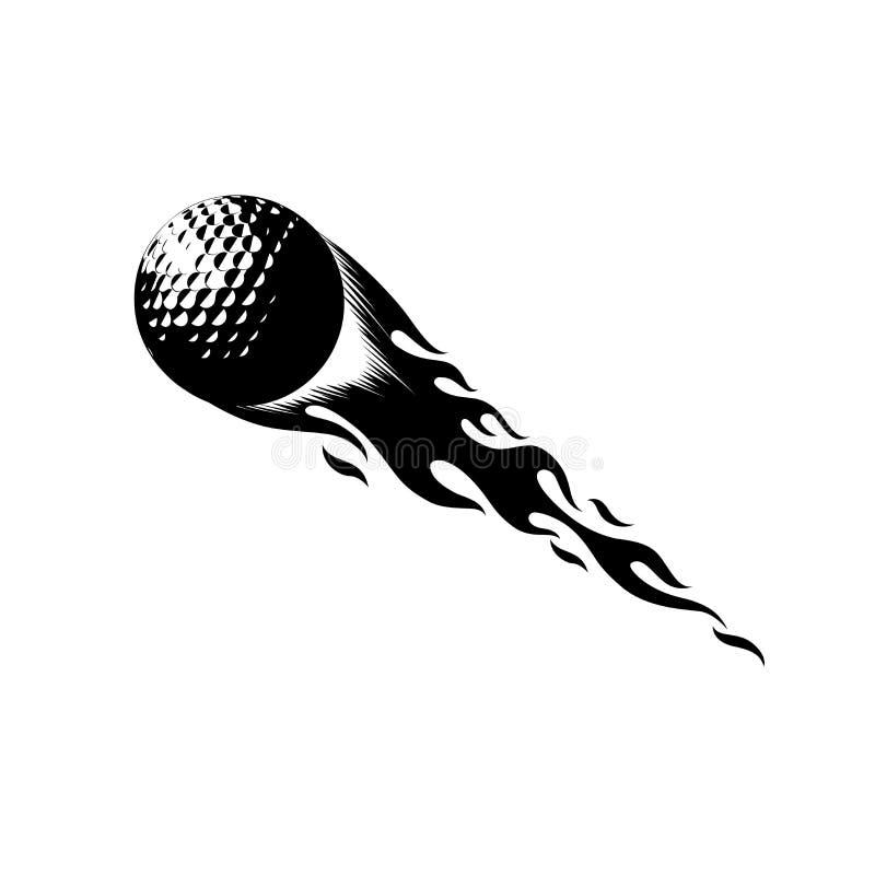 Hete Golfbal royalty-vrije illustratie