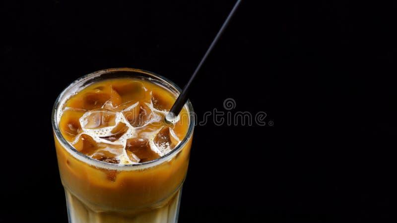 Hete karamel latte koffie royalty-vrije stock afbeeldingen