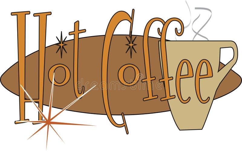 Hete Koffie stock illustratie