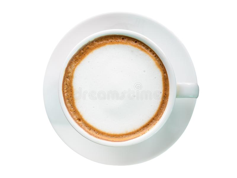 Hete Koffie Knippende weg royalty-vrije stock foto