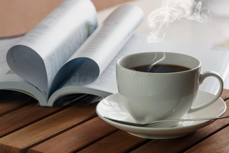 Hete koffiekop royalty-vrije stock foto
