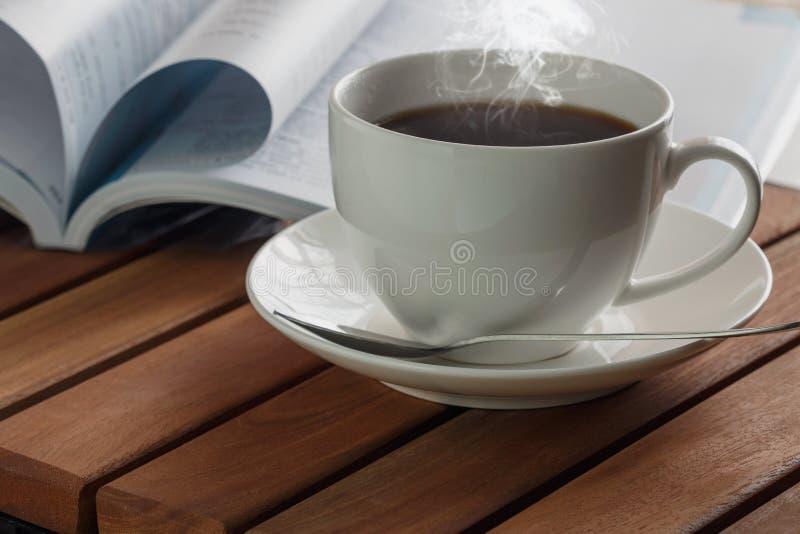 Hete koffiekop stock afbeelding