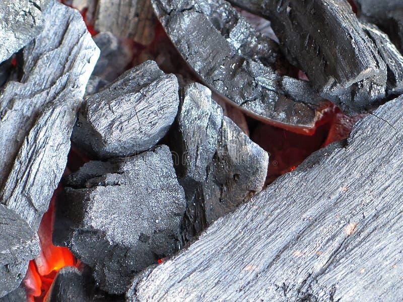 Hete koolstof royalty-vrije stock afbeeldingen