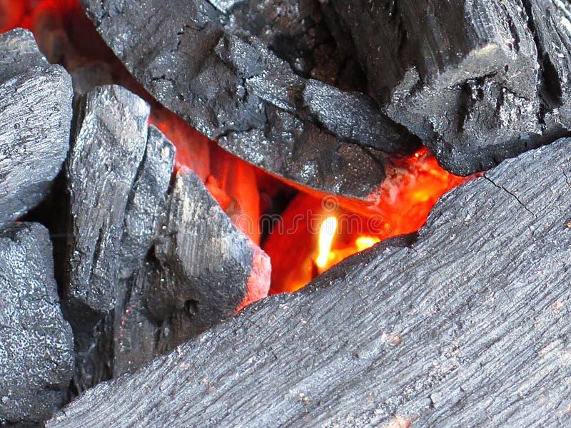 Hete koolstof royalty-vrije stock foto's