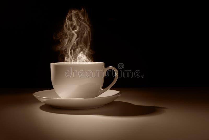 Hete kop van koffie of thee stock afbeeldingen