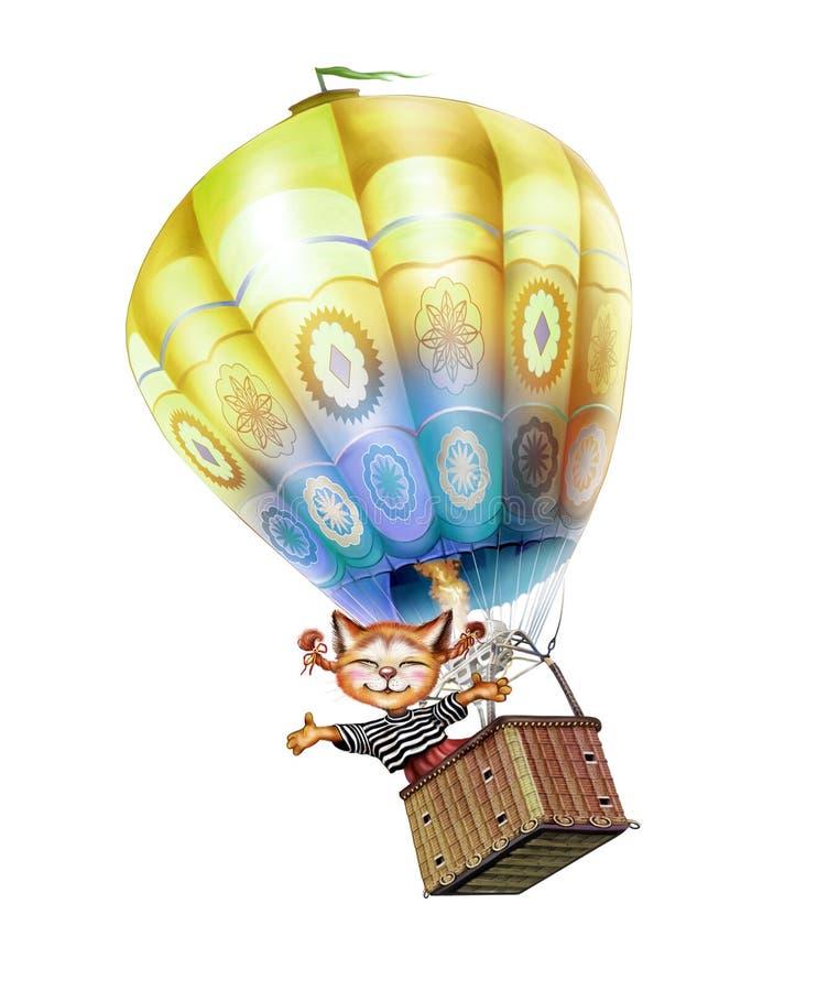 Hete lucht ballooner stock illustratie