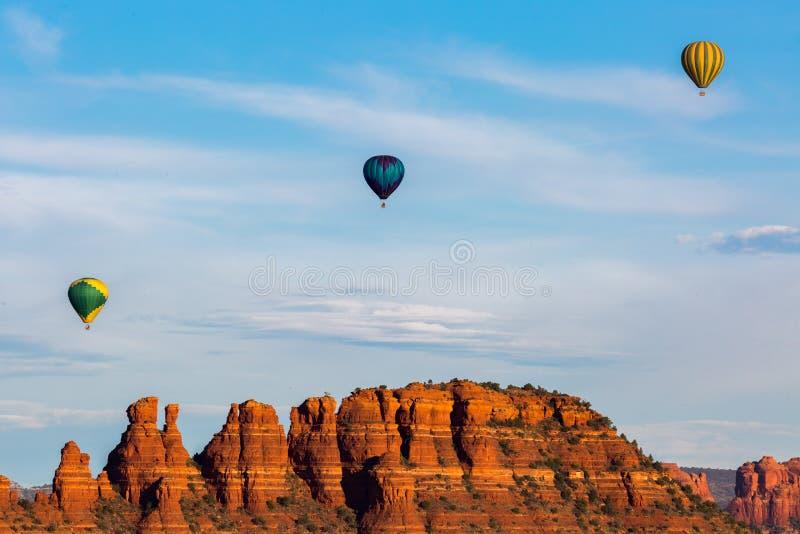 Hete Lucht Ballooning in Sedona royalty-vrije stock fotografie