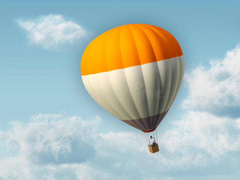 Hete luchtballon stock illustratie