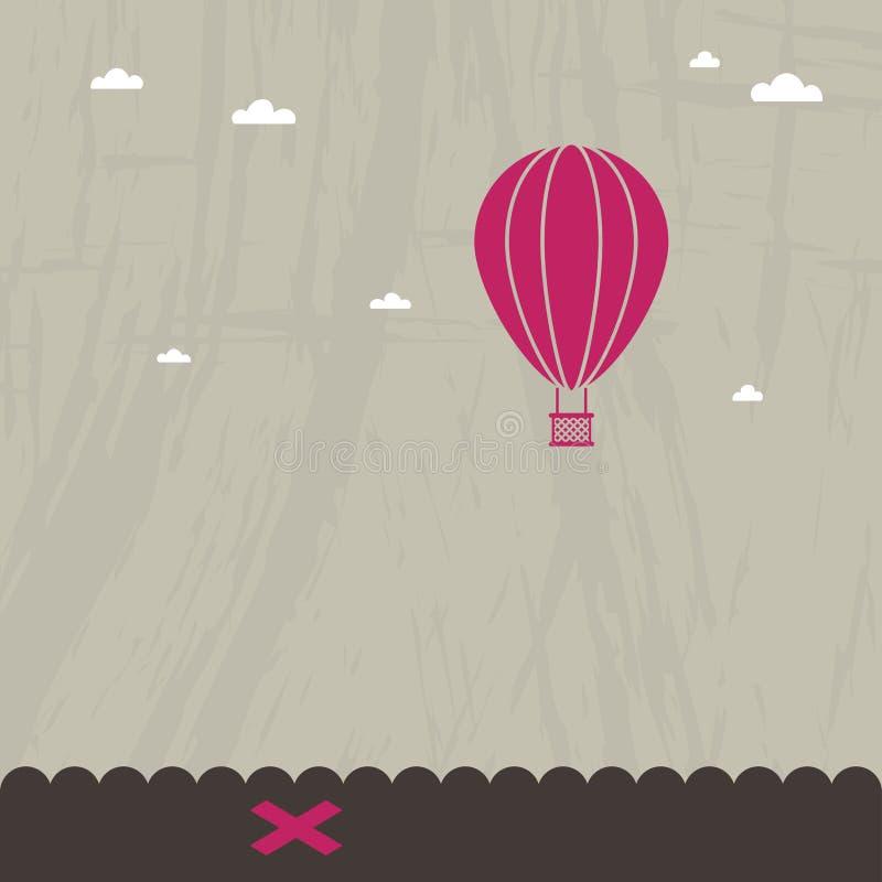 Hete luchtballon stock illustratie