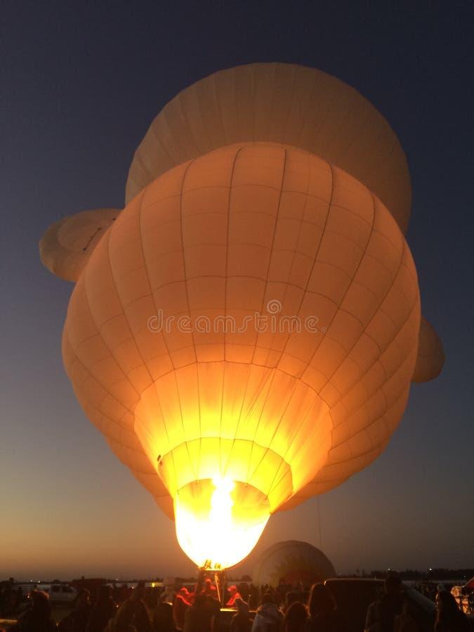 Hete luchtballon bij internationaal ballonsfestival in Leon, Mexico stock foto