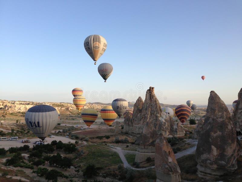 Hete Luchtballon in Cappadocia royalty-vrije stock afbeeldingen