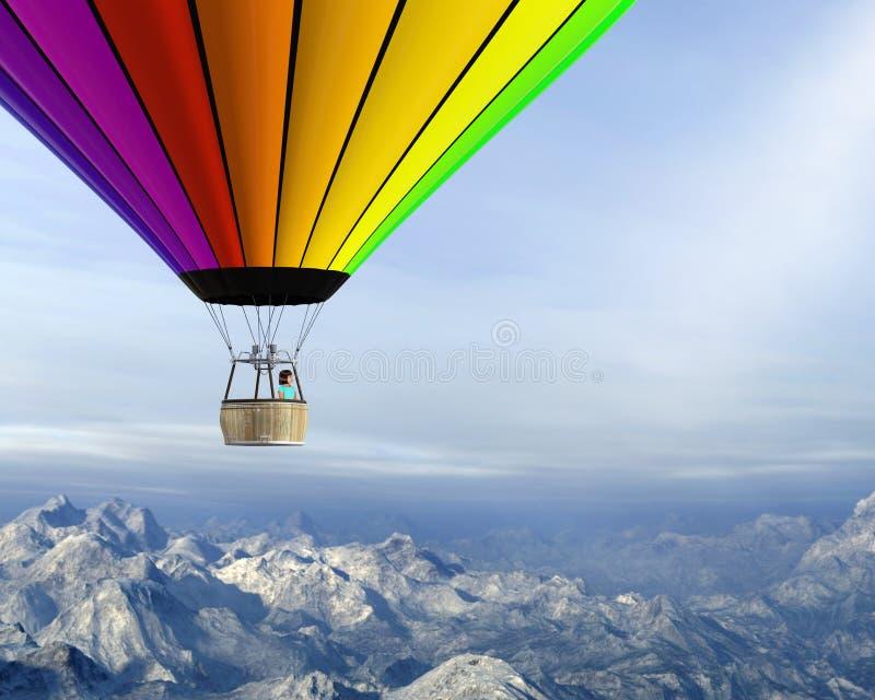 Hete Luchtballon, Meisje, Kind, Spel stock afbeeldingen