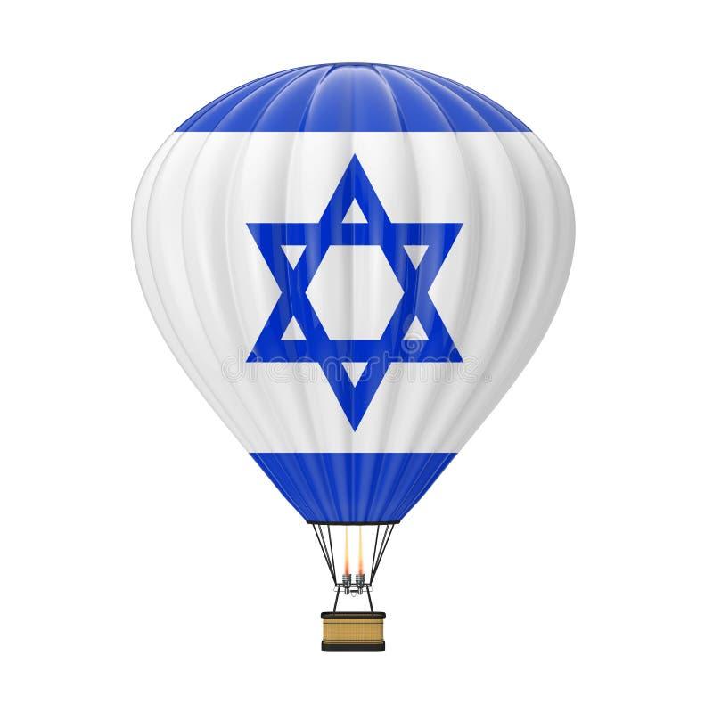 Hete Luchtballon met Vlag van Israël het 3d teruggeven royalty-vrije illustratie