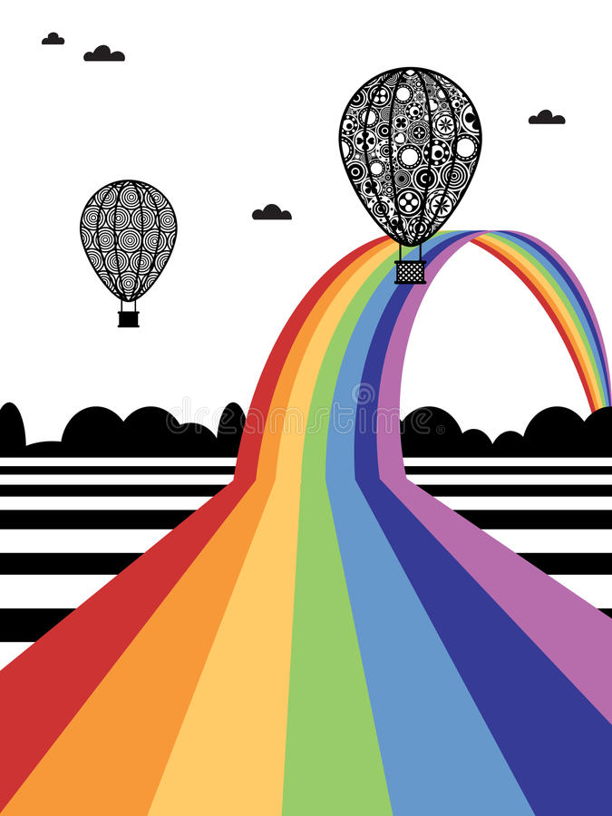 Hete luchtballons vector illustratie