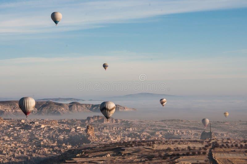 Hete Luchtballons Capadocia stock afbeeldingen
