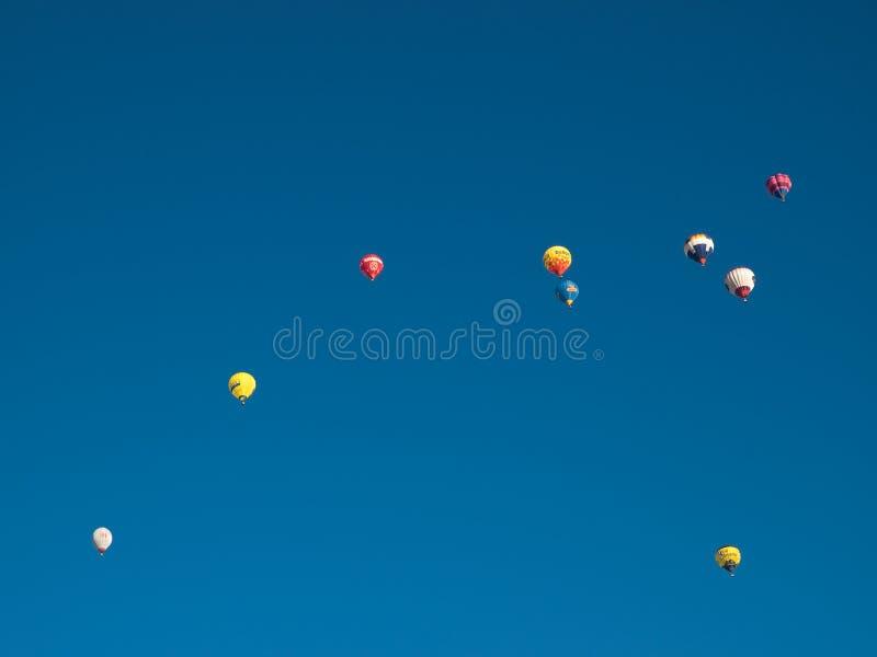 Hete luchtballons in Mondovi', Italië royalty-vrije stock afbeelding