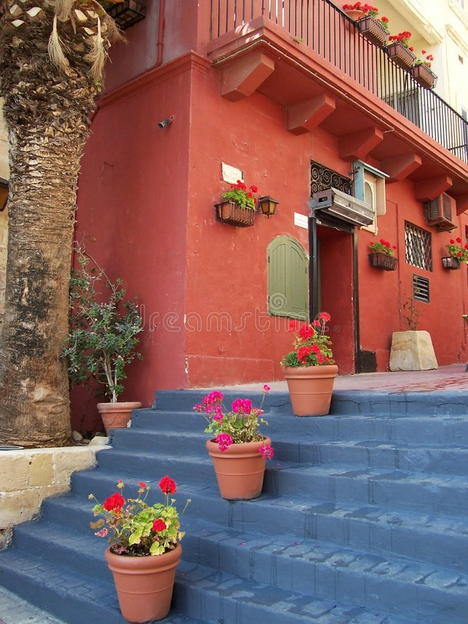hete Mediterrane kleuren stock foto