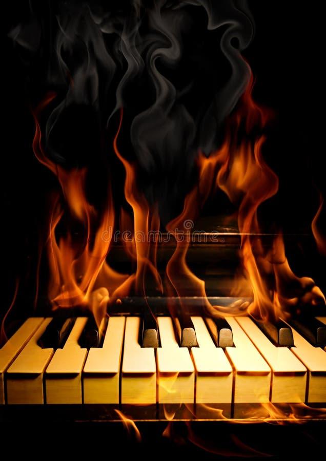 Hete muziek. vector illustratie