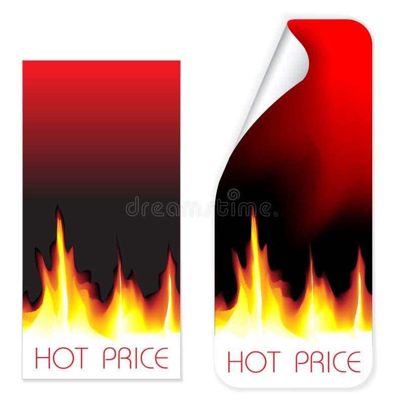 Hete prijsetiketten stock illustratie